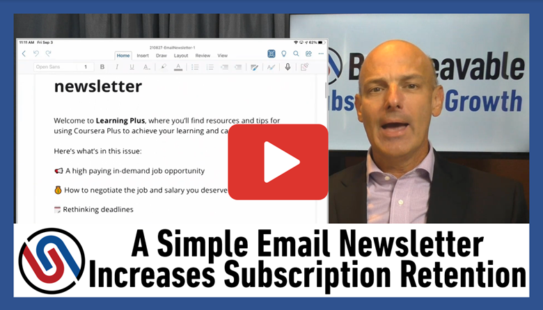 email newsletter that improves retention
